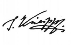 Pfarrer Kneipp Unterschrift